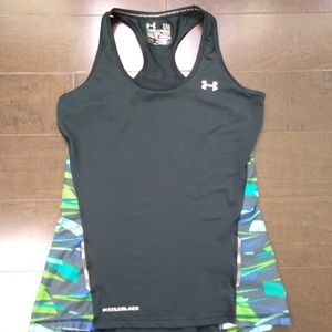 Under Armour | Cold Black Semi Fitted Tank Top
